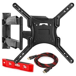 "Full Motion TV Wall Mount Monitor Bracket for 32"" - 52"" LED,"