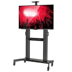 Rolling TV Stand Mobile TV Cart for 60-100 inch Flat Screen,