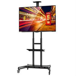 Rolling TV Stand Mobile TV Cart for 55-80 inch Plasma Screen