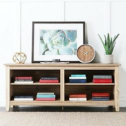 "New 58"" Modern Tv Console Stand - Natural Finish"