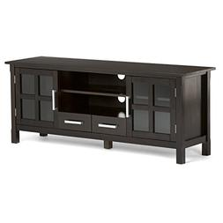"Simpli Home Kitchener TV Media Stand for TVs up to 66"", Dark"