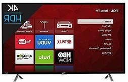 "TCL 49"" 4K Ultra HD 120Hz HDR Roku Smart TV 2017 Model with"