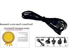 UPBRIGHT New AC in Power Cord Cable Plug for TCL HD Roku Sma