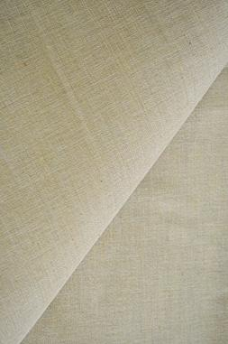 "AK-Trading 60"" Wide Burlap and Cotton Blend Natural Lint Fre"