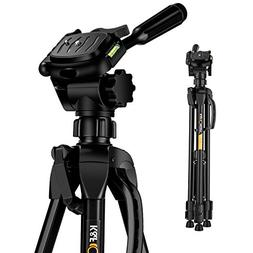 K&F Concept 60 inch Aluminum Travel Tripod with Lightweight