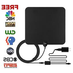 GJT Amplified TV Antenna HDTV Digital Antenna 50 Miles Range