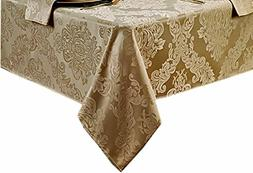 Barcelona No-Iron Soil Resistant Fabric Damask Tablecloth -