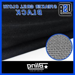 Black 55Inch Wide Speaker Cloth Stereo Grill Fabric Repair A