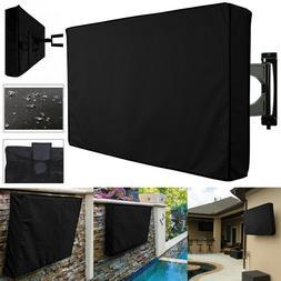 Black Waterproof Dustproof Outdoor TV Cover Protector For 55