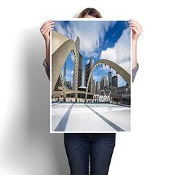 Canvas Painting Sticker Toronto City Hand Nathan Phillips Sq