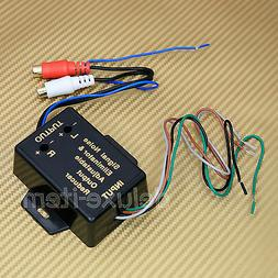 Car Stereo Speaker Wire Input to RCA Output Line Level Conve
