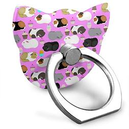 Cat Cell Phone Finger Ring Holder, Guinea Pigs and CEANakes