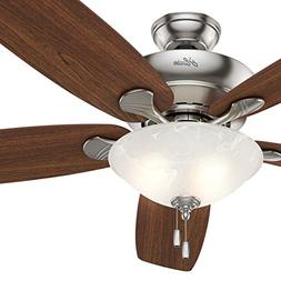 """Hunter Fan 60"""" Ceiling Fan in Brushed Nickel with Swirled Ma"""