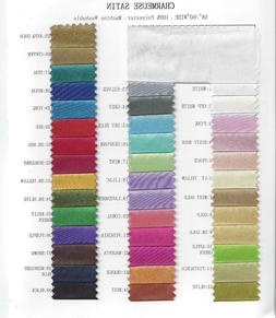 """Charmeuse Bridal Satin Fabric for Wedding Dress 60"""" inches S"""