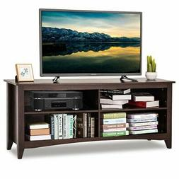 Contemporary TV Stand for up to 60-inch TV in Espresso Finis