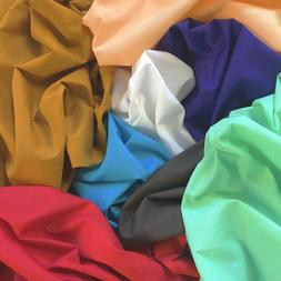 "Cotton Polyester Broadcloth Fabric 60"" inch Apparel Solid Po"