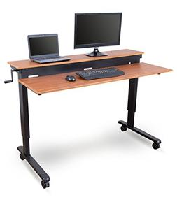 Stand Up Desk Store Crank Adjustable Sit to Stand Up Compute
