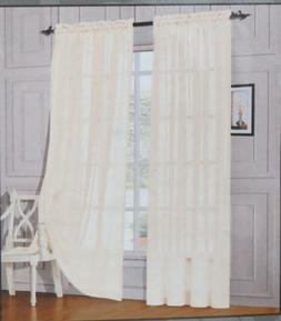 Curtain Jenin Solid Sheer Panel Beige 60 inches Wide by 84 i
