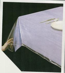 """DELUXE COLLECTION Clear Heavy Duty Tablecloth Protector, 60"""""""