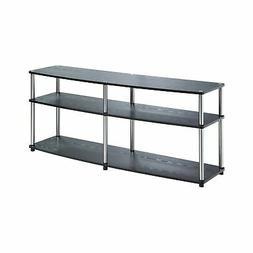 Convenience Concepts Designs2Go 3-Tier TV Stand, 60-Inch, Bl