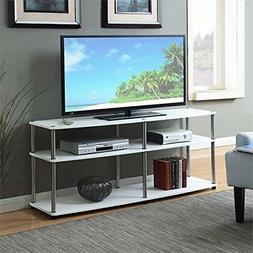 Convenience Concepts Designs2Go 3-Tier TV Stand, 60-Inch, Wh