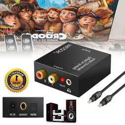 Digital - Analog Audio Converter Optical Coaxial In Headphon