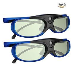 GooDee DLP Link 3D Glasses, Ultra-Clear HD 144 Hz 3D Active
