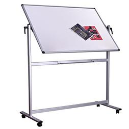 Dexboard Double Sided Aluminum Magnetic Mobile Dry Erase Boa