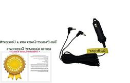 Dual Dc Car Power Adapter Cord for Accurian Apd-3911 Digital