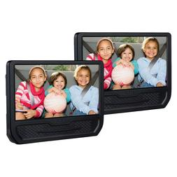 dual screen 9 mobile dvd player black