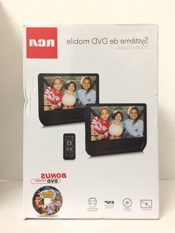 "RCA Dual Screen 9"" Mobile DVD Player - Black  w/ BONUS AC ad"