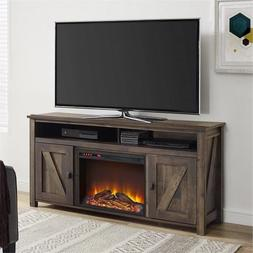 Electric Fireplace TV Stand 60 Inch Storage Media Console Ba