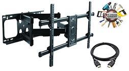 ELITE MOUNT - Heavy Duty Dual Arm Articulating TV Wall Mount