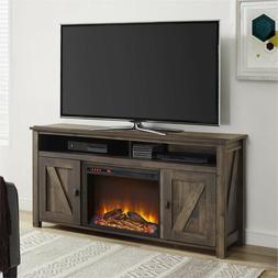 """Altra Furniture Farmington 60"""" Media Heritage Pine Fireplace"""