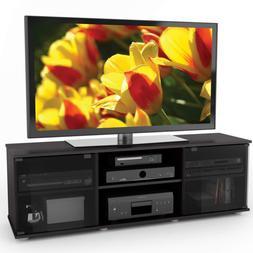 Sonax FB-2600 Fiji 60-Inch TV Component Bench, Ravenwood Bla