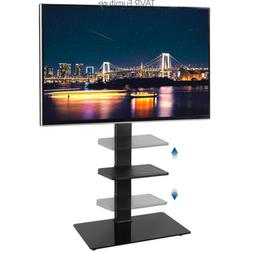 """Floor TV Stand with Swivel Mount and Glass Base for 32-65"""" F"""