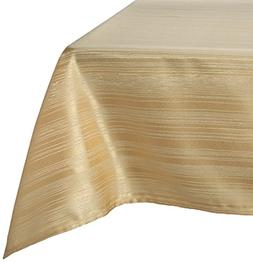 "Benson Mills Flow Spill Proof Fabric Tablecloth, 60"" x 140"","
