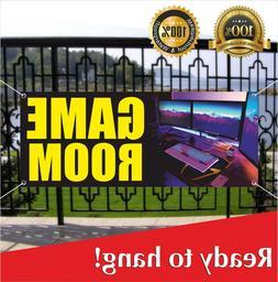 GAME ROOM Banner Vinyl / Mesh Banner Sign DVD PC Games Video