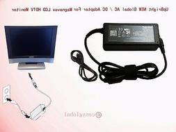 """Global AC Adapter For Magnavox 15"""" LCD HDTV Monitor 15mf400t"""