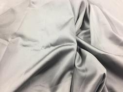 Gray 60inch 2 Way Stretch Charmeuse Satin-super Soft Silky S