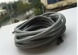 gray long high boot shoe laces