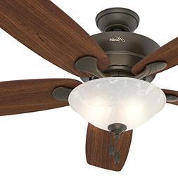 """Hunter Fan 60"""" Great Room Ceiling Fan in New Bronze with Swi"""