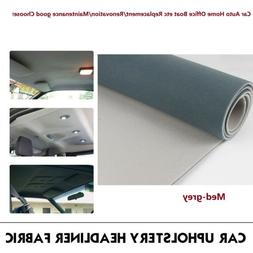 GREY Headliner Material, Light Weight & Cushioned Fabric Per