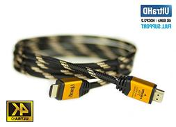 UPTab HDMI 2.0a Cable 6FT - UHD 4K@60Hz with HDR - Braided C