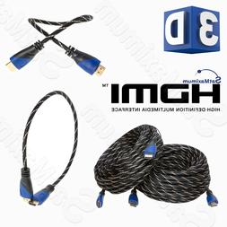 HDMI HIGH SPEED CABLE PREMIUM 1.4 Mesh Wire BLURAY 3D DVD HD