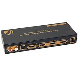 iArkPower 3 Port HDMI Switch with Optical Toslink SPDIF & RC