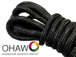 Heavy Duty Black Shoe / Boot Laces made with Black Dupont™