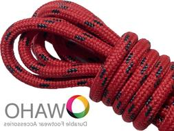 heavy duty red shoe boot laces reinforced