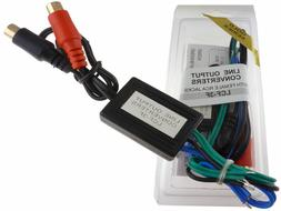 High Low Line Adapter Output Converter Speaker Wire To RCA J