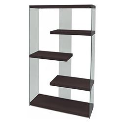 hollow core tempered glass bookcase